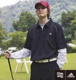 【大きいサイズ】 ADIDAS GOLF ポロシャツ+ハイネックT (ブラック×ホワイト) (4XO 5XO 6XO 7XO)