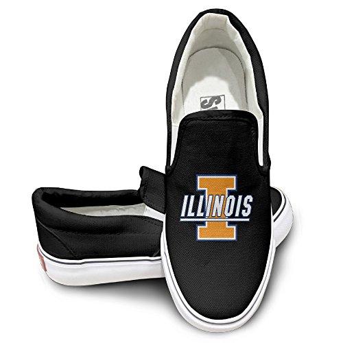ZICO University Of Illinois Fighting Fashion Unisex Flat Canvas Shoes Sneaker 35 Black (Smart Balance Popcorn compare prices)