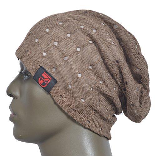 648941633da Men Slouch Hollow Beanie Thin Summer Cap Skullcap B018h (W07-Brown ...