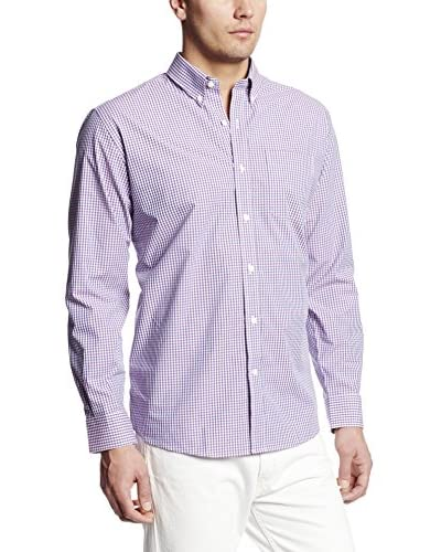 Cutter & Buck Men's Long Sleeve Beacon Rock Gingham Shirt