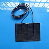 12V 1.5W Mini Solar Panel Small cell Module Epoxy Charger With 1M Welding Wire (Tamaño: Small)