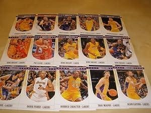 2011-12 Panini NBA Hoops Los Angeles Lakers Team Set (15 Cards including 4 Kobe... by 2011/12 Panini NBA Hoops
