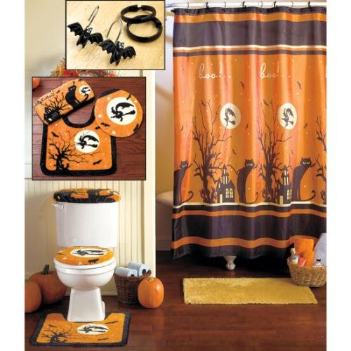 Extra Wide Grommet Curtains Halloween Scary Shower Curtains