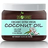 Organic Extra Virgin Coconut Oil by Sky Organics 16.9 oz- USDA Organic Coconut Oil, Cold-Pressed, Kosher, Cruelty-Free, Fairtrade, Unrefined- Ideal as a Skin Moisturizer, Hair Treatment & Baking