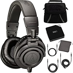 Audio-Technica ATH-M50X Dark Grey Professional Headphones - LIMITED SPECIAL EDITION Ultimate Bundle