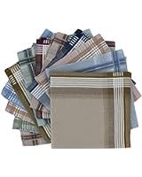 Pack of 12 Men's Patterned Handkerchiefs (HH125) Handkerchiefs by Handkerchief Heaven