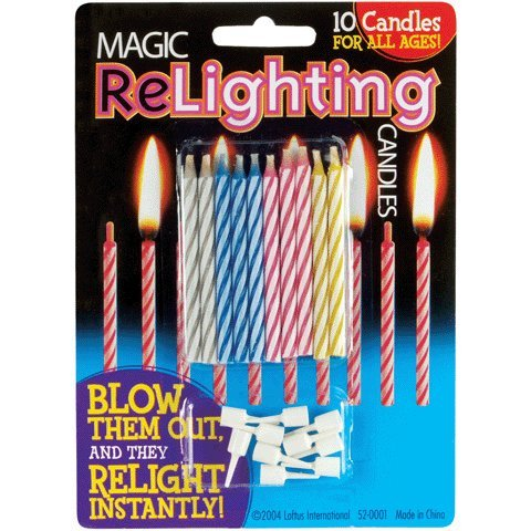 10 Count Magic Birthday Relighting Candles