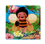 Ularma Lindo Juguetes de madera de los cabritos Jigsaw para la educaci�n de los ni�os y Puzzles juguetes de aprendizaje (multicolor2)