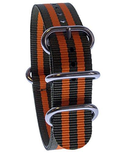 yves-camani-uni-radisson-montres-de-20-mm-de-bracelet-de-lotan-en-nylon-avec-vert-orange-neuf