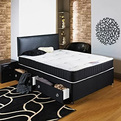 Hf4you Chester Ortho Divan Bed - 4FT6 Double - No Storage - Matching Headboard Included