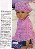 Baby Girls and Childrens Poncho and Hat Knitting Pattern: 5 sizes To fit chest 41cm-61cm (16