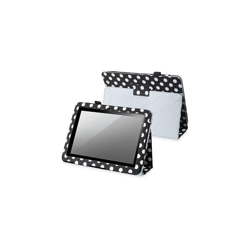 eForcity 8.9 inch Black White Polka Dot leather Case With Stand Compatible With Barnes & Noble Nook HD+ Computers & Accessories