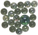 """Nostálgicos Juguetes, 20 canicas piezas de vidrio (15 mm) más 1 """"Rey de mármol"""" (25mm) Set"""