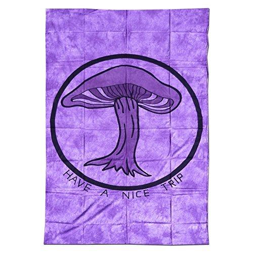 Telo da parete/copriletto batik/telo da spiaggia/sarong 2200x1400 viola fungo Goa