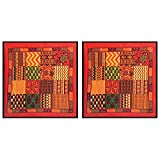 DollsofIndia Two Pieces Printed Cotton Cushion Covers - Cotton - B013I7V9GK