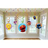 Amscan Sesame Street Swirl Decorations, Multicolor
