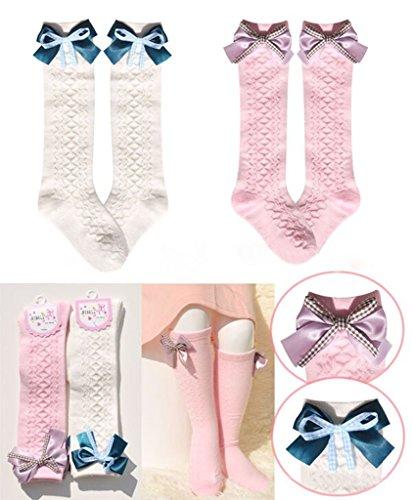 interestingr-baby-girl-chaussettes-en-coton-collant-bow-frill-bas-haut-du-genou-convient-1-2-ans