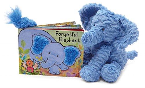"Jellycat® Board Books, Forgetful Elephant Book - 7.5"" front-1037876"