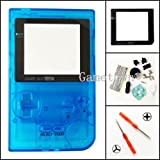 Gametown® Clear Light Blue Housing Shell Cover Case Replacement Parts For Nintendo Gameboy Pocket Console GBP System (Color: Clear Blue)