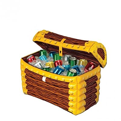 Beistle Inflatable Treasure Chest Cooler