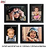 Ajanta Royal Classic set of 4 Individual Photo Frames (2-4x6, & 2-6x8 Inch) - WPC-10
