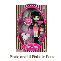 Pinkie Cooper Travel Pinkie in Paris Collection Doll with Pet