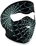 51I9pcgWulL. SL160  ZANheadgear Neoprene Glow in the Dark Spiderweb Face Mask