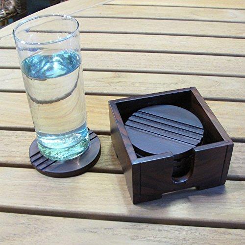 Rare Elegant Sono Keling Indian Rosewood Coasters
