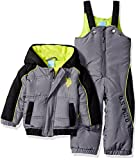 U.S. Polo Assn. Baby Boys Sporty Heavyweight Bubble Snow Suit, Shadow, 12 Months
