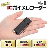 Mimiry ボイスレコーダー USBメモリー型 8GB 取扱説明書付き IC-001M