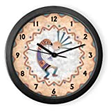 Kokopelli In Tune 1 Round Acrylic Wall Clock