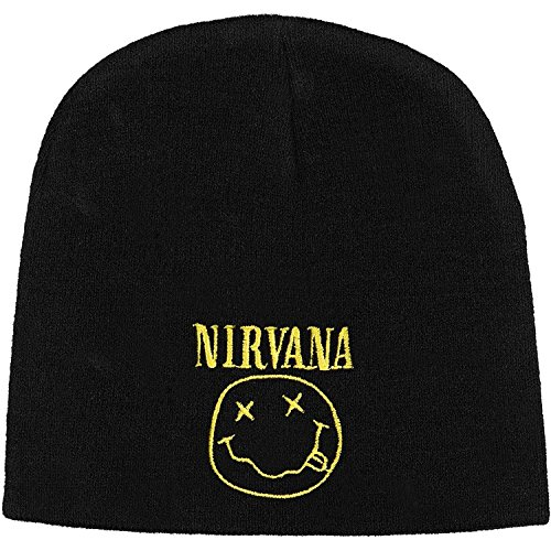 Nirvana Men's Smile Beanie Black (One size)