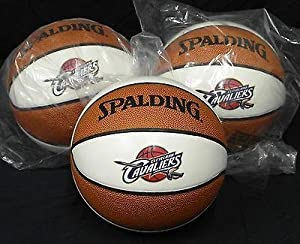 New Unsigned 4 Panel White Mini Spalding Cavaliers Basketball For Auto Lot Of 3 -... by Sports+Memorabilia