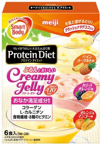 スマートボディ プロテインダイエット クリーミーゼリー 100g×6袋 (3味×2袋)