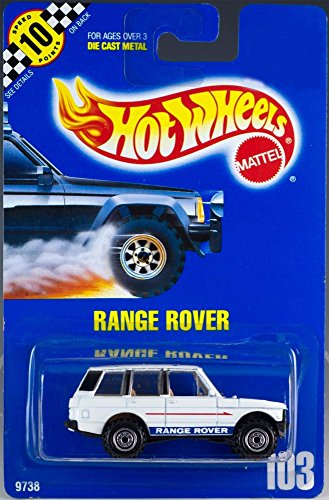 White RANGE ROVER Hot Wheels 1:64 Scale Collectible Die Cast Metal Toy Car Model #103 (White Range Rover compare prices)