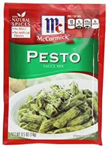 McCormick Pasta Sauce Blend, Pesto, .5-Ounce Unit (Pack of 12)