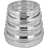Stainless Steel Chocolate And Sweet Box With Lid, Set Of 4, Silver, Size 1, 2, 3 And 4