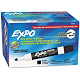 Expo Low Odor Bullet Tip Dry Erase Markers, 12 Black Markers (82001) Case of 12 Dozens