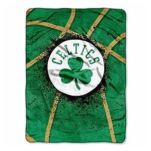 NBA Boston Celtics Shadow Play Royal Plush Raschel Throw Blanket, 60x80-Inch by Northwest