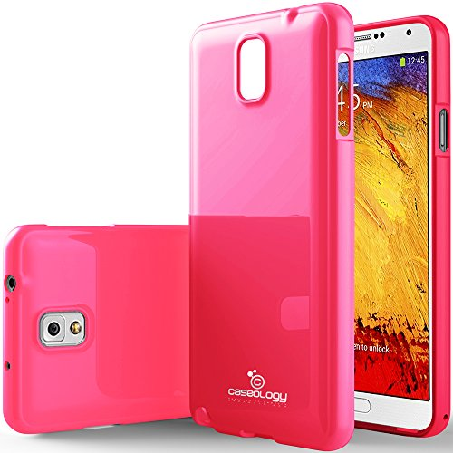 Galaxy Note 3 Case, Caseology [Drop Protection] Samsung Galaxy Note 3 Case [Hot Pink] Slim Fit Tpu Cover [Shock Absorbent] Armor Bumper Galaxy Note 3 Case [Made In Korea] (For Samsung Galaxy Note 3 Verizon, At&T Sprint, T-Mobile, Unlocked) front-214269