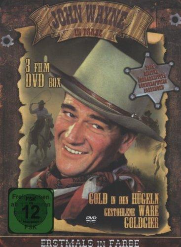 John Wayne in Farbe - 3 Film DVD Holzbox