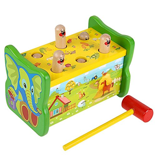 Lewo-Deluxe-Wooden-Pounding-Bench-Toys-Game-Kids