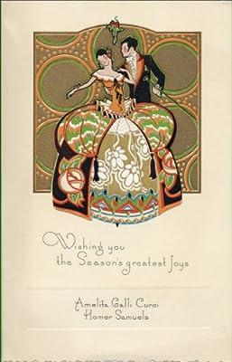 Opera [Gigli, Curci, Farrar, Telva, Farrar, Johnson, Tibbett]. Collection of Christmas Cards to Lawrence Tibbett.