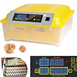 Sailnovo 56 Digital Automatic Egg Incubator Chicken Poultry Hatcher 48 Egg Turning Temperature Control (48 Egg Incubator)