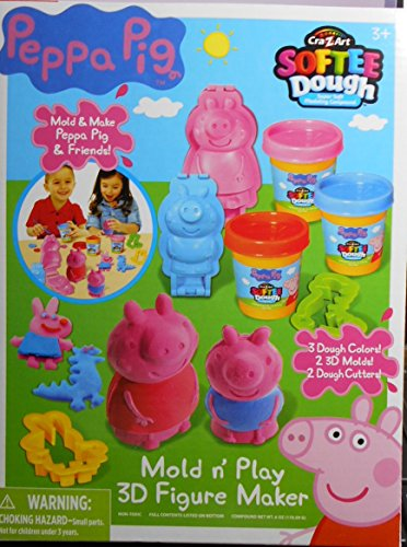 Softee Dough Peppa Pig Cra-z-Art Softee Dough Mold n' Play 3D Figure Maker (Peppa Pig Play D compare prices)