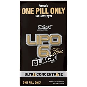 Nutrex Research Lipo 6 Black Hers Ultra Concentrate Diet Supplement Capsules, 60 Count by Nutrex Research