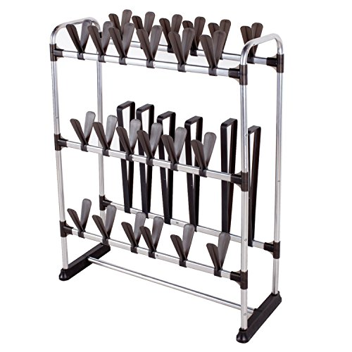 StorageManiac Space-Saving Standing Shoe Rack for 24 Pairs of Shoes and 3 Pairs of Boots (Shoe Boot Rack compare prices)