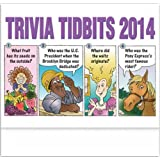 Trivia Tidbits Stapled Appointment Calendar Trade Show Giveaway