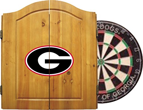 Imperial Officially Licensed NCAA Merchandise: Dart Cabinet Set with Steel Tip Bristle Dartboard, Georgia Bulldogs (Bulldog Dart Board compare prices)