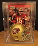 San Francisco 49ers NFL Helmet Shadowbox w/ Joe Montana card